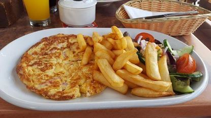 Picture of Cheese Omelette & Chips  (served with salad)